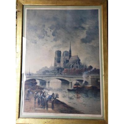Notre-dame De Paris Cathedral Lucien Gauthier 1907