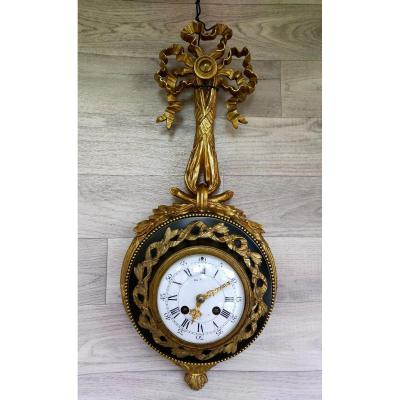 Louis XVI Gilt Bronze Cartel (pendulum, Clock)