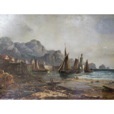 Le Départ Des Bateaux  Sur l'Ile d'Achill