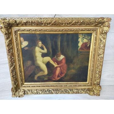 Suzanne Au Bain Du Tintoret d'après Jacopo  Robusti