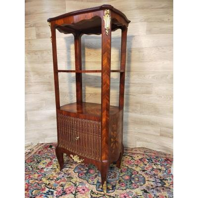 Presentation Cabinet In Marquetry Stamped Vd Faubourg Saint Antoine Paris