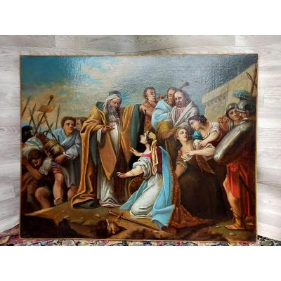 Large Biblical Painting Judith And Holofernes