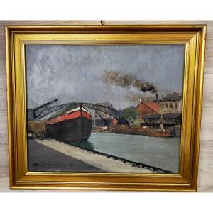 René Mallia Bassin De La Villette A Paris 1928