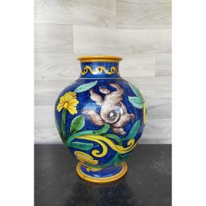 Cantagalli Vase Faience Majolica
