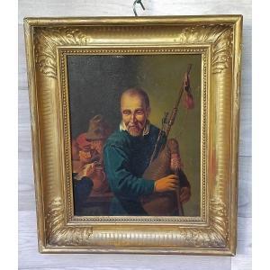 Le Joueur De Cornemuse Dans La Taverne  école hollandaise (musicien)