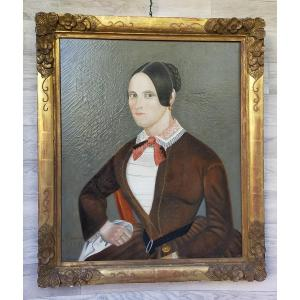 Portrait d'Une Jeune élégante 1851 Berkowski