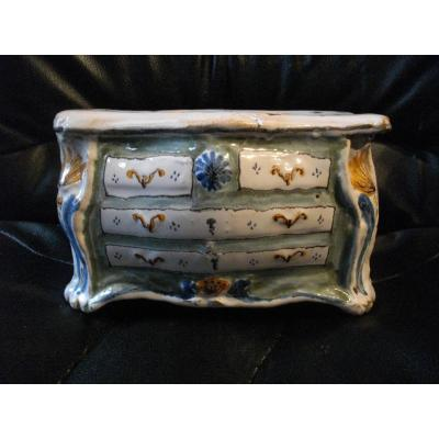Commode En Faience De Nevers Epoque XVIII Eme