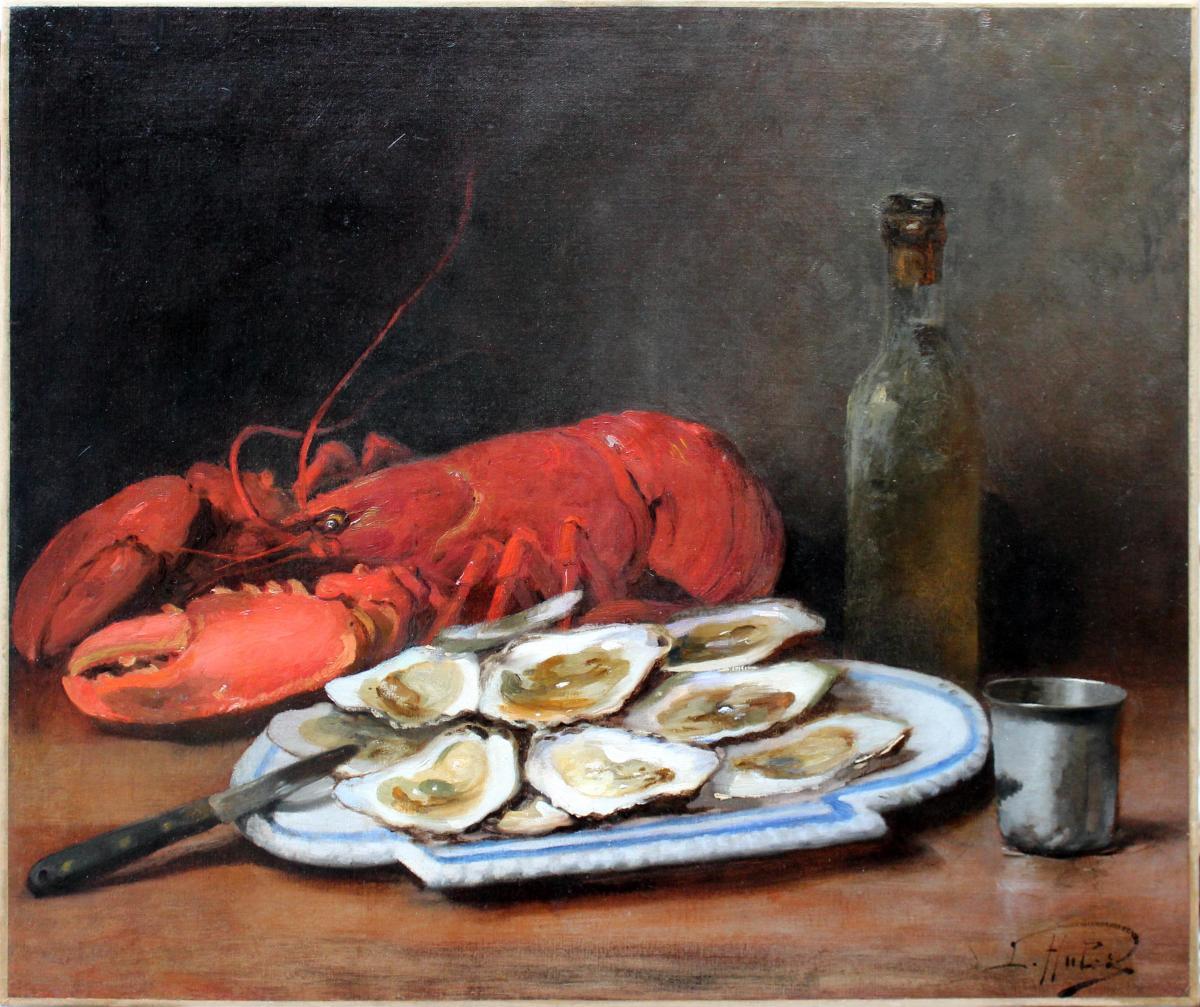 Léon Charles Huber (paris, 1858 – 1928) huile sur toile signée
