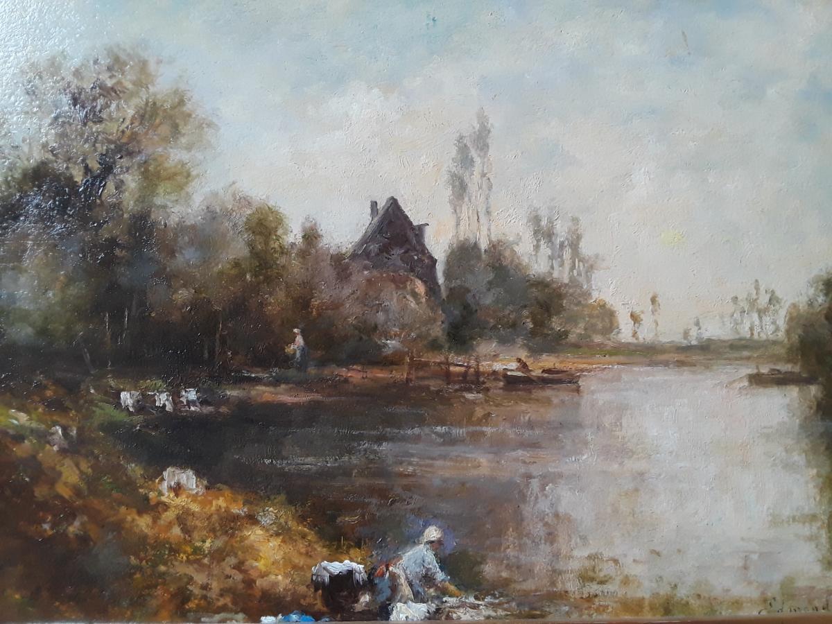 Edmond Yon (montmartre 1841 - Paris 1897) Oil On Cardboard Signed