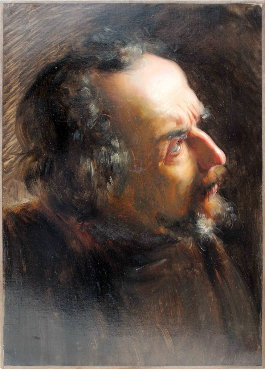 Portrait Of Man From Profile
