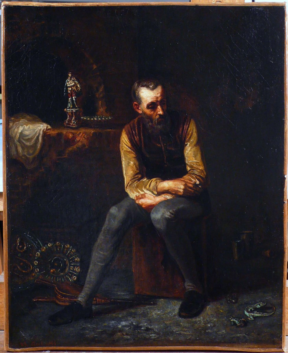Bernard Palissy In His Workshop Dated August 26, 1844