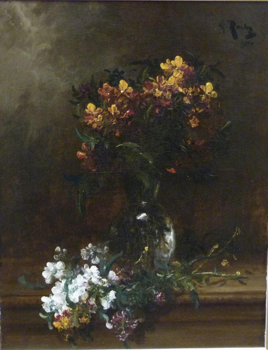 Alfred Rouby (1849-1909) ''Bouquet de Giroflées''