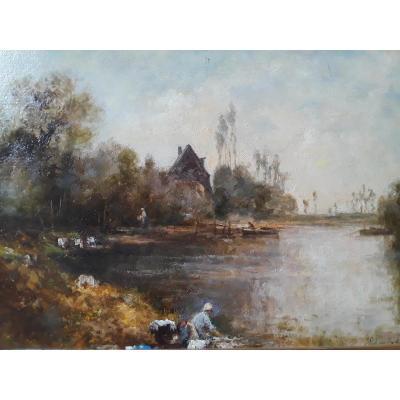Edmond Yon (montmartre 1841 - Paris 1897) Huile Sur Carton Signée