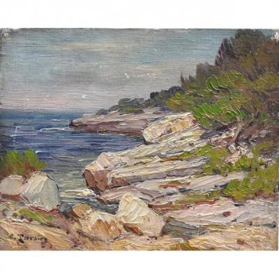 Clovis Terraire (1858 - 1931) '' Mediterranean Landscapes ''