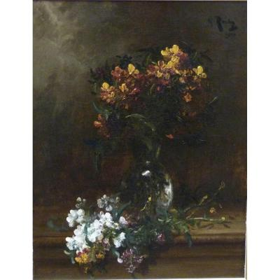 Alfred Rouby (1849-1909) ''wallflowers''