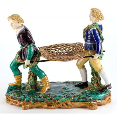 English Victorian Minton Majolica Centerpiece