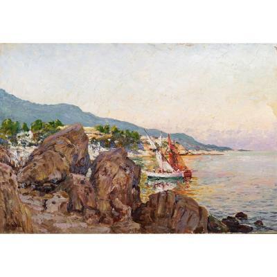 Louis Gaidan (1847-1925) ''Les falaises Carqueiranne''
