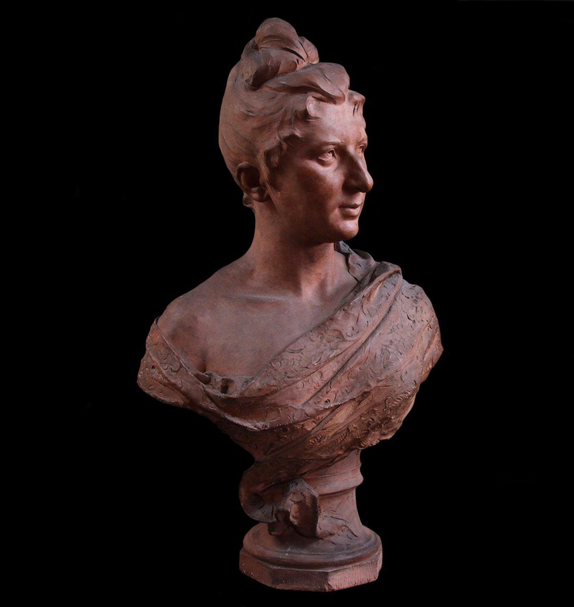 Buste En Terre Cuite Signé Jozef Willems , XIXème Siècle