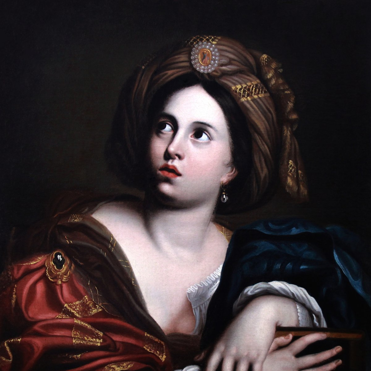 Sibilla Persica, After Domenico Zampieri, Oil On Canvas 18th Century