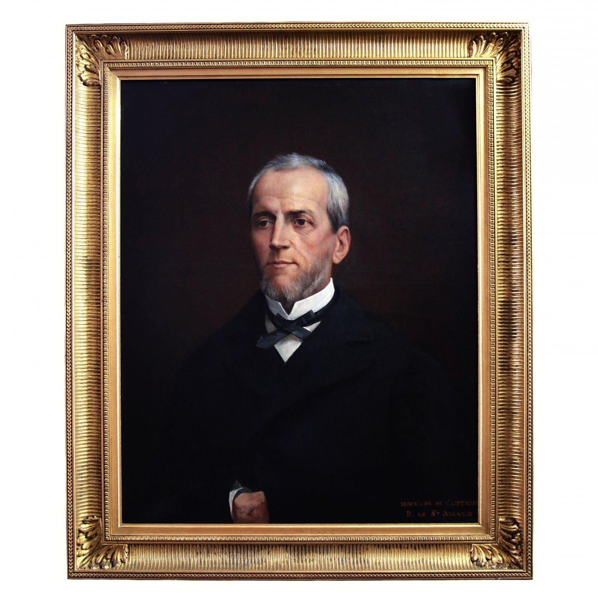 """Portrait Huile Sur Toile Par Robert De St Amand """" vendu sans cadre """""""