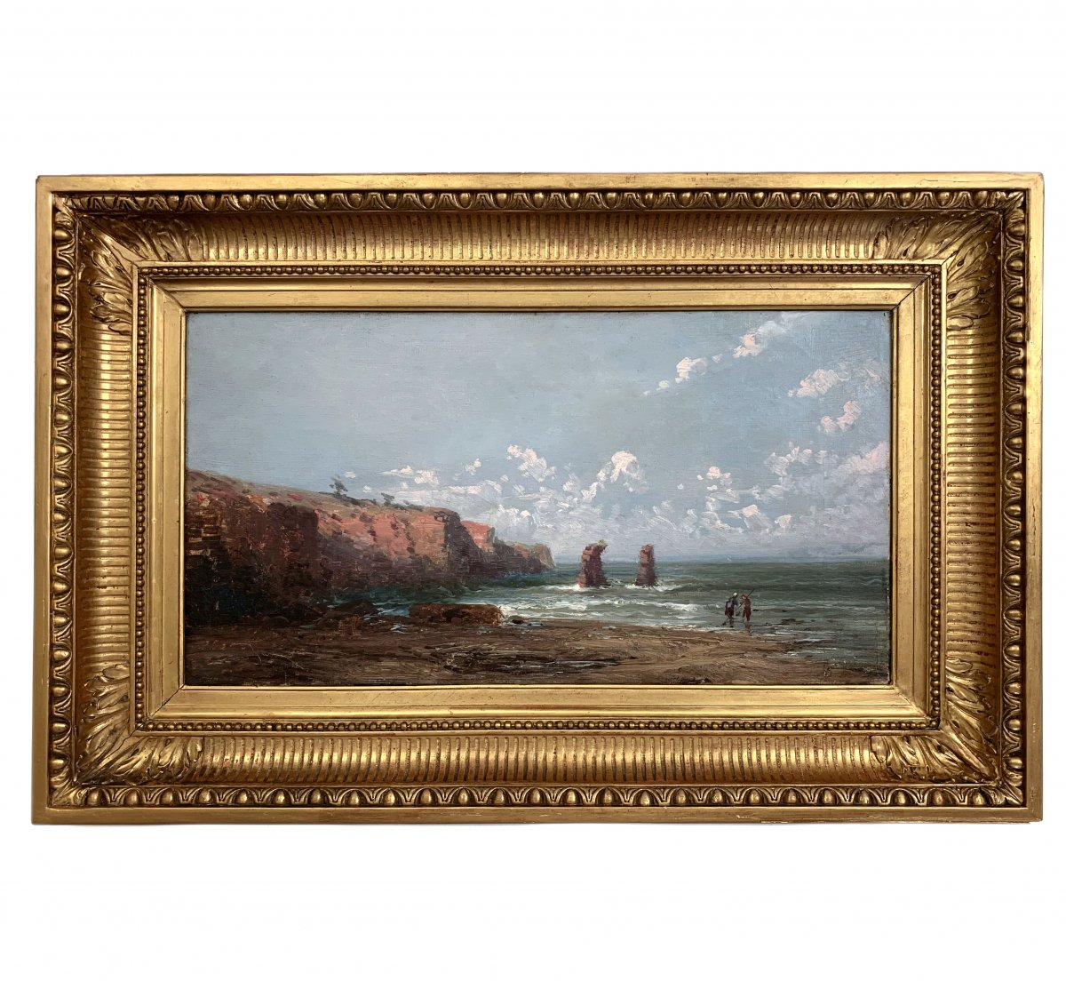 Old Oil On Canvas, Rocky Coast XIX
