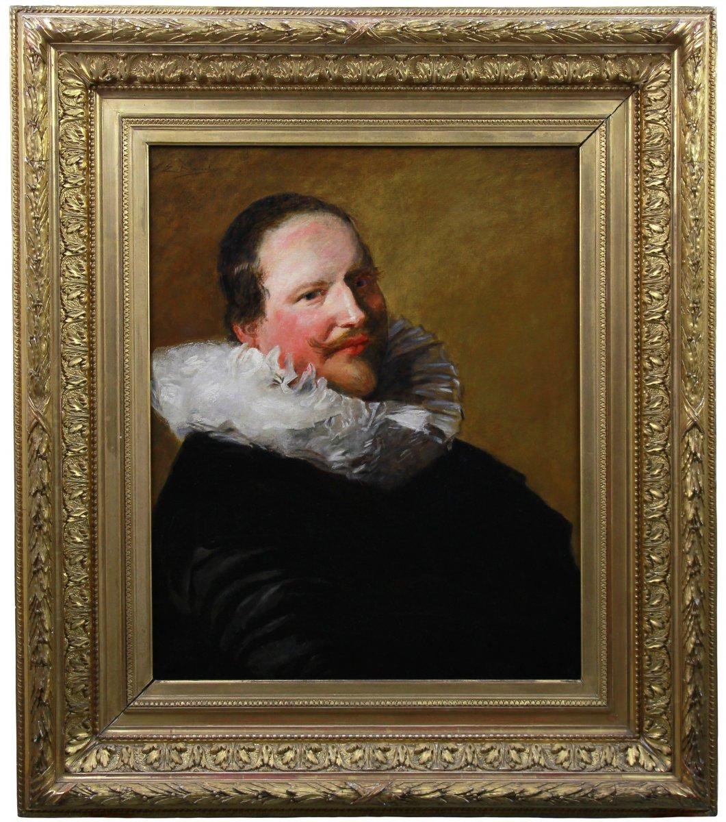 Portrait Of A Nobleman , Oil On Canvas By Edgar Bundy