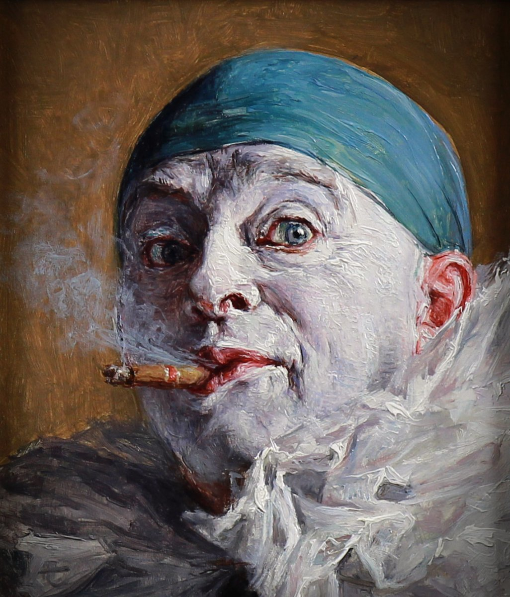 Portrait Oil On Panel By Armand Henrion