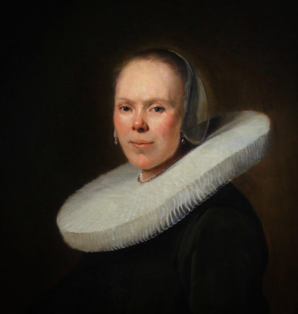 Portrait De Femme Baroque Huile Sur Toile école Néerlandaise-photo-3