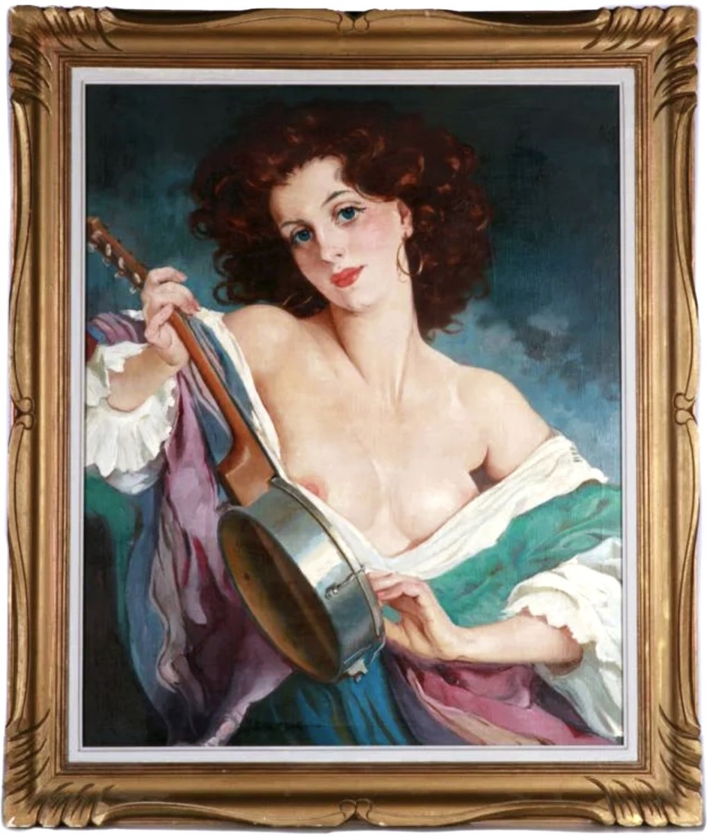 Oil On Canvas, Nude Portrait By Maria Szantho-photo-2