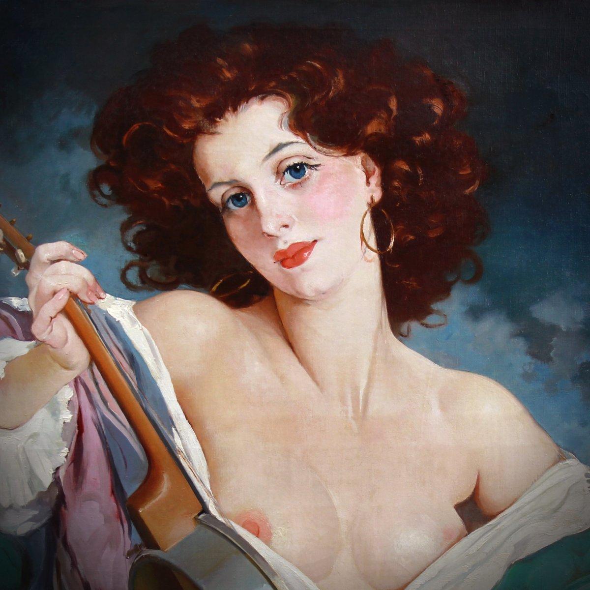 Oil On Canvas, Nude Portrait By Maria Szantho-photo-4