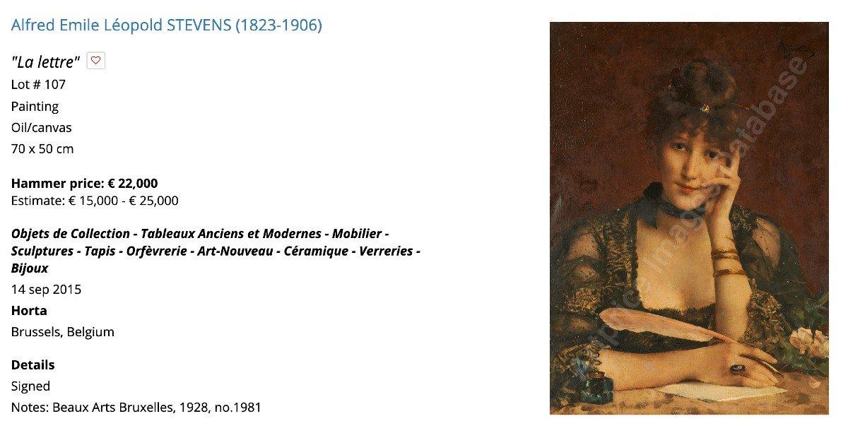 Alfred Stevens Portrait Art Nouveau -photo-4