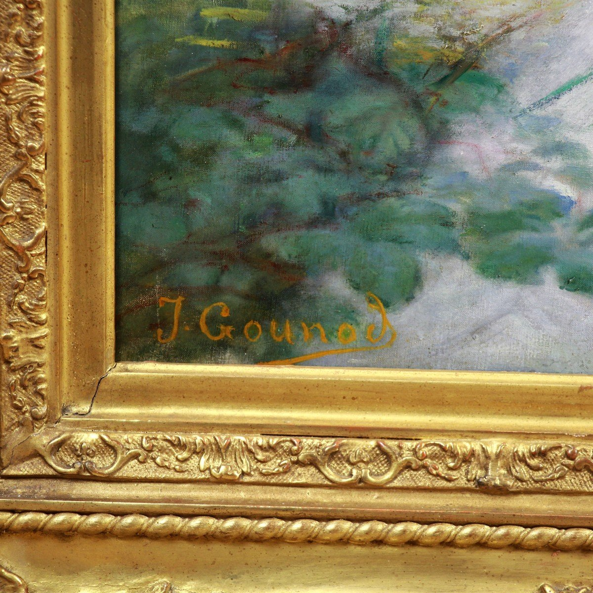 Large Oil On Canvas Nude By Jean-charles Gounod 19th-photo-4