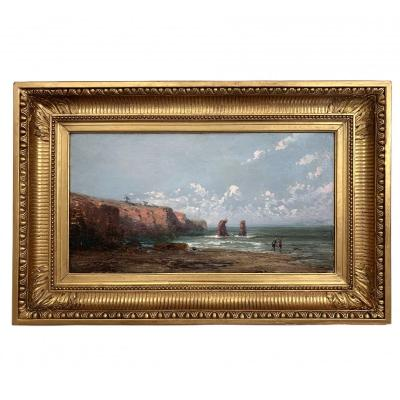 Old Oil On Canvas, Rocky Coast XIX
