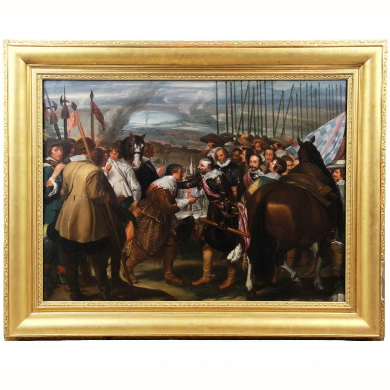 Historical Painting Oil On Canvas End Of The 19th Century -photo-2