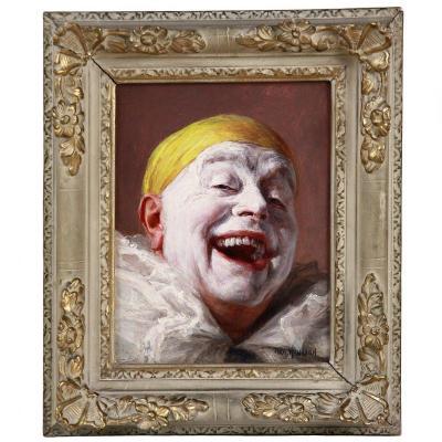 Armand Henrion Portrait Huile Sur panneau