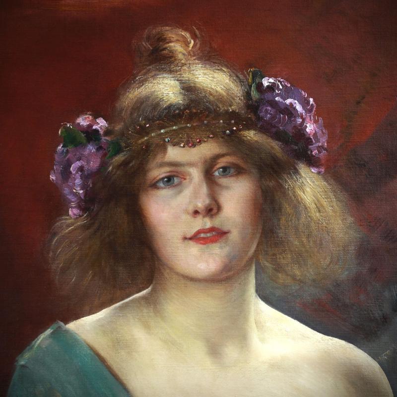 Alfred Stevens Portrait Art Nouveau -photo-3