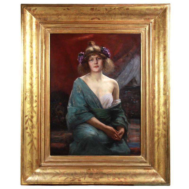 Alfred Stevens Portrait Art Nouveau -photo-2