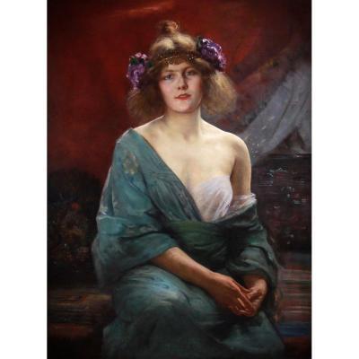 Alfred Stevens Portrait Art Nouveau