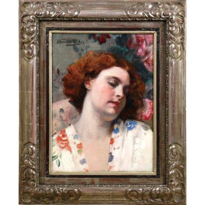 Portrait Reverie Huile Sur Toile Herman Richir