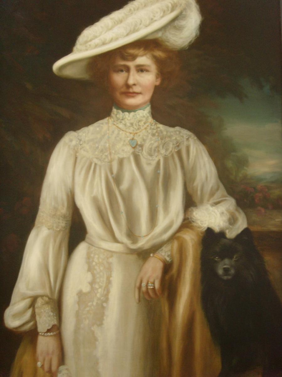 Huge 19thc Portrait Lady Dunbar Of Mochrum By John Horsburgh