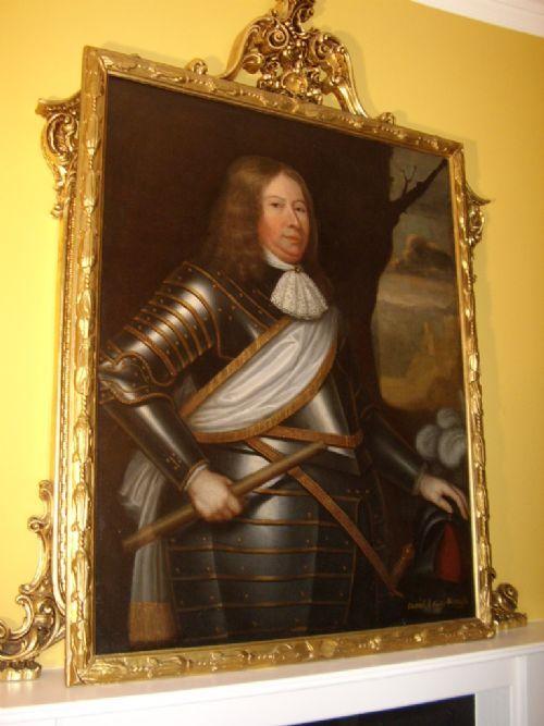 17thc Oil Portrait Painting David 2nd Earl Wemyss Circle of David Scougall