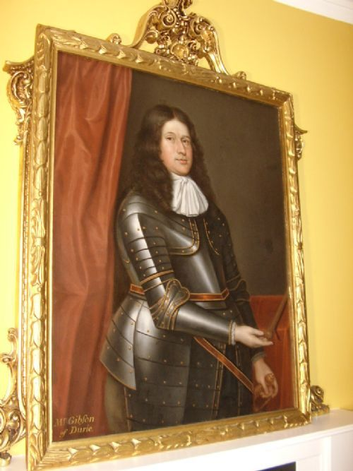 17THC OIL PORTRAIT OF MR GIBSON OF DURIE BY DAVID SCOUGALL