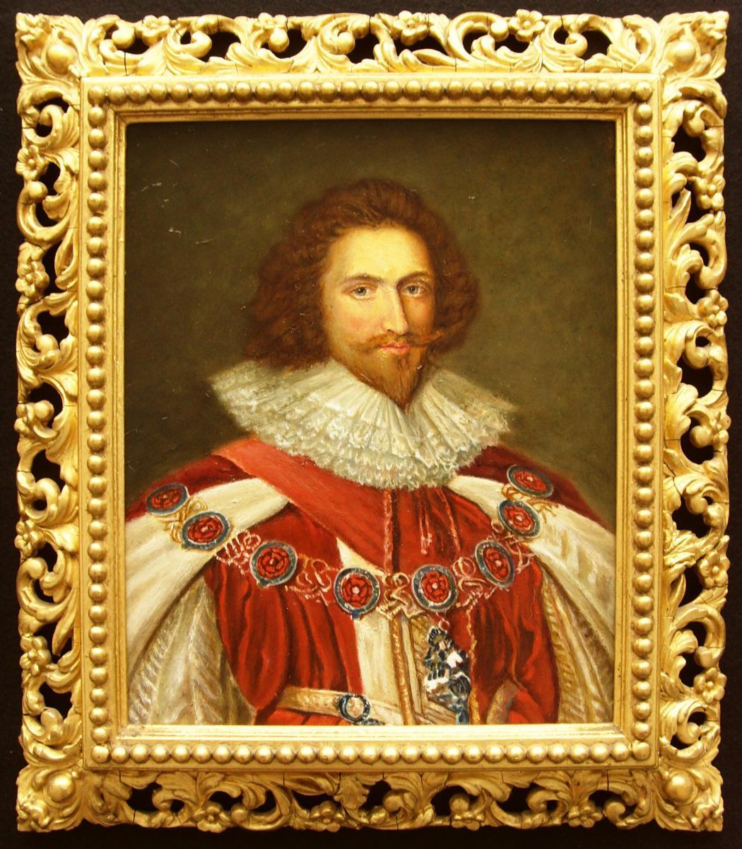 1er Duc De Buckingham Après La Peinture De Portrait d'Huile Fine De Cornelius Jansen