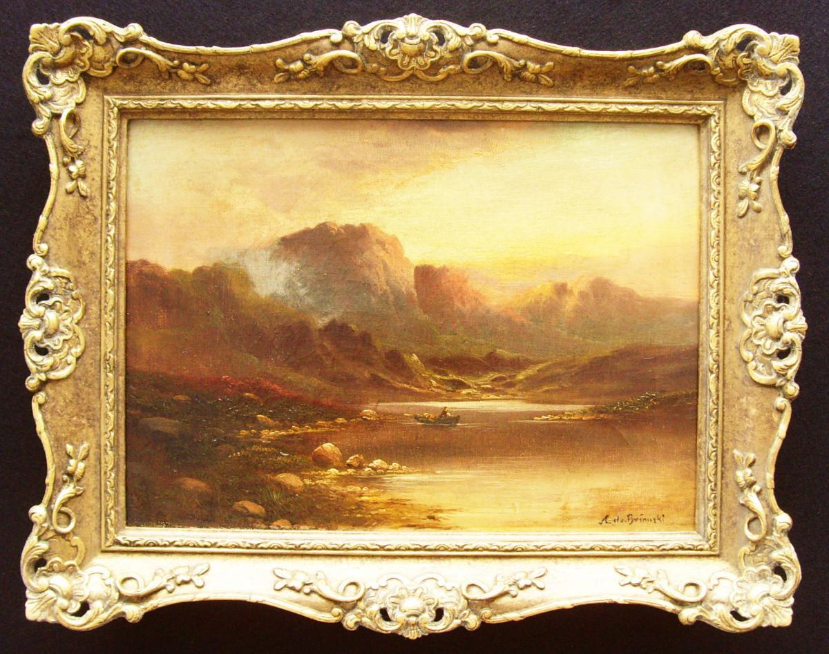 Peinture à l'Huile Alfred De Breanski Pays-bas écossais
