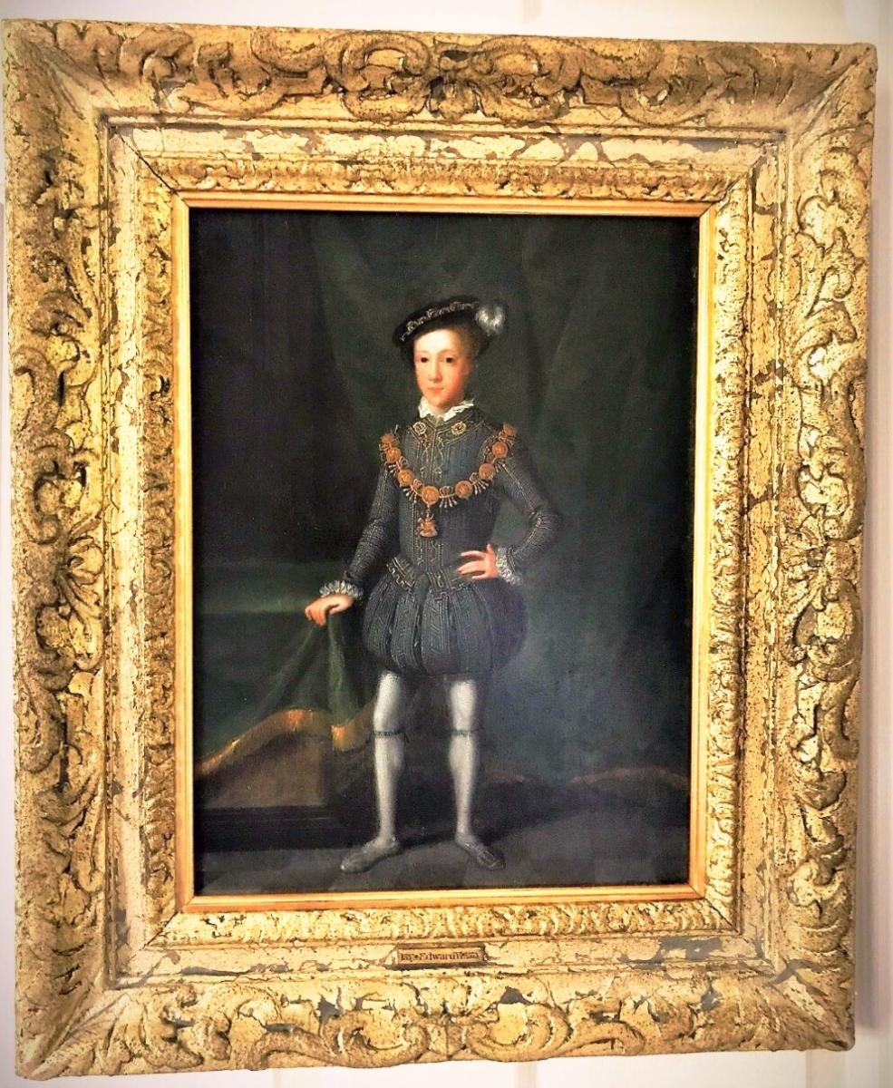 King Edward VI (1537-1553) 17thc Dutch Oil On Panel Manner Of Guillim Scrots