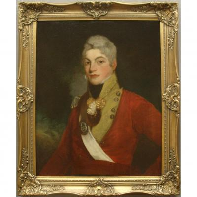OFFICER PORTRAIT FOLLOWER OF SIR THOMAS LAWRENCE (1769-1830) 20TH REGIMENT OF FOOT EAST DEVONSH