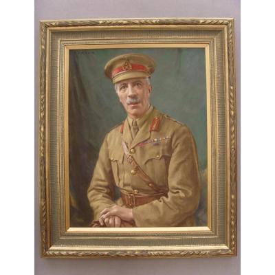 Pastel Portrait Brigadier Général Percy Douglas Hamilton Cb Cmg (1867-1936) Par Oliver Senior