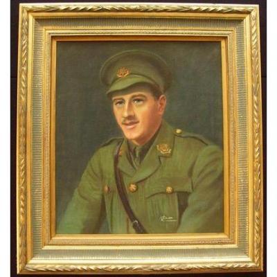 Lieutenant Bryan Barton Cubitt (1892-1915) WW1 British Army Officer East Yorkshire Regiment.