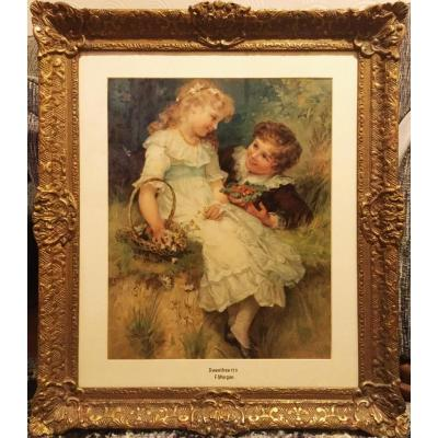 Pears Collectors Print Of Children Titled Sweetheart After Artist Frederick Morgan 1856-1927