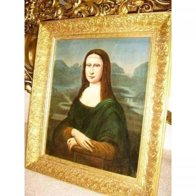 Mona Lisa Old Master 18th Century Oil Painting